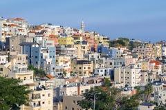 Ein Mahil -在拿撒勒,更低的内盖夫加利利,以色列附近的阿拉伯村庄 库存照片