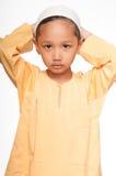 Netter moslemischer Junge Lizenzfreies Stockfoto