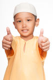 Netter moslemischer Junge Lizenzfreie Stockfotos