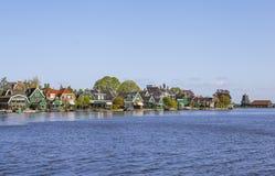 Ein malerisches ethnographisches Dorf Zanes-Schans netherlands Lizenzfreies Stockbild