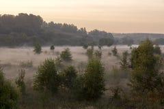 Ein malerisches Tal an der Dämmerung Stockbild