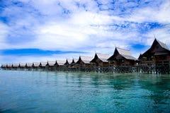 Ein Mann bildete Kapalai Insel Lizenzfreies Stockfoto