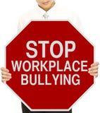 Stoppen Sie die Arbeitsplatz-Einschüchterung Stockbilder