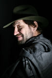 Ein Mann in einem Hut Stockfotos