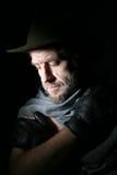 Ein Mann in einem Hut stockfotografie