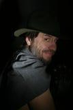 Ein Mann in einem Hut stockfoto