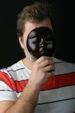 Ein Mann in einer Schablone stockbilder