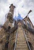 Ein Mann errichtete Schloss Stockfotos