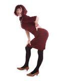 Ein Mann gekleidet als Frau Stockfotografie