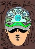 Ein Mann mit Kappe Lizenzfreies Stockbild