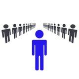 Ein Mann oder Frau, die Führer sind vektor abbildung