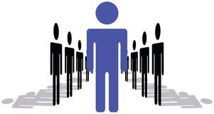 Ein Mann oder Frau, die Führer und Stellung aus sind lizenzfreie abbildung