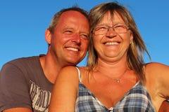 Ein Mann und eine Frau zusammen Stockbild