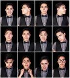 Ein Mann viele Gesichter Stockbilder
