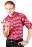 Ein Mannweiß getrennt Lizenzfreie Stockfotos