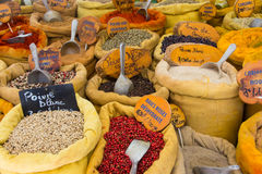 Ein Markt in Ajaccio Korsika Stockbild