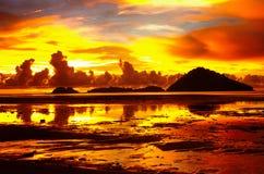 Ein Marssonnenuntergang Lizenzfreies Stockbild