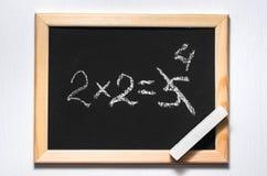 Ein mathematisches Beispiel lizenzfreie stockbilder