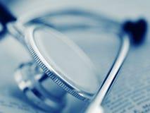 Ein medizinisches Hilfsmittel - Stethoskop Stockbild
