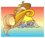 Ein Meerjungfrau-Kind lizenzfreies stockbild