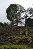 Ein Megalithen- Standort in West-Java, Indonesien Es hat Tausenden von lizenzfreie stockfotos