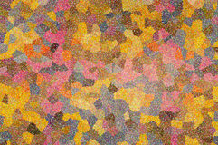 Ein mehrfarbiges Muster des abstrakten Mosaiks Stockfoto