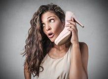 Ein merkwürdiger Anruf Lizenzfreies Stockfoto