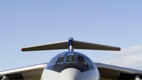 Ein Militärtransportflugzeug Lizenzfreies Stockbild