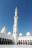 Ein Minarett Abu Dhabi Mosques Stockfoto