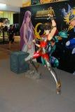 Ein Modell des Charakter Heiligen Seiya von den Filmen und von den Comics Stockbild