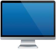 Moderner Aluminiumcomputer lokalisiert Lizenzfreie Stockfotografie