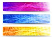 Ein moderner Satz Netz-Fahnen mit abstraktem backgrou Stockbild