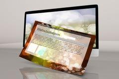 Ein modernes alle in einem Computer mit generischen Website Stockfotos