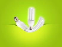 Ein modernes energiesparendes Glühlampeideal für Ökologie Lizenzfreies Stockbild