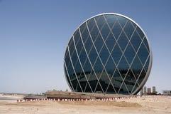 Ein modernes futuristisches Gebäude, Abu Dhabi, UAE Lizenzfreies Stockfoto