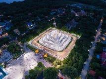 Ein Moment der buddhistischen heiliger Tageszeremonie in Asokaram-Buddhist Temp lizenzfreies stockbild