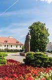 Ein Monument zu Adam Mickiewicz, Vilnius, Litauen Lizenzfreie Stockfotografie