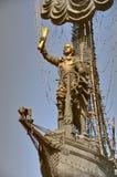 Ein Monument zum russischen Kaiser Peter der erste im Park Museon lizenzfreies stockfoto