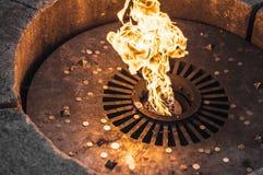Ein Monument zur ewigen Flamme in Veliky Novgorod Lizenzfreies Stockfoto