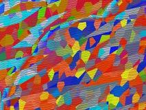 Ein Mosaik ist in einem Kaleidoskop Stockfotografie