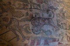 Ein Mosaik von Villa Del Casale, in Marktplatz armerina, Sizilien Stockfoto
