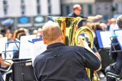 Ein Musiker Stockfoto
