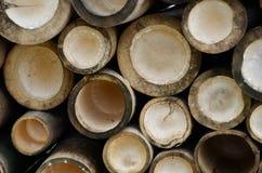 Ein Muster von Bambusstielen Lizenzfreies Stockfoto