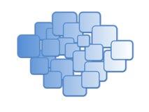 Ein Muster von Blau farbigen Kästen Lizenzfreie Stockbilder