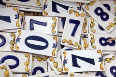 Ein Muster von Zahlen Lizenzfreies Stockfoto
