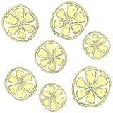 Ein Muster von Zitronen Lizenzfreie Stockfotos