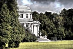 Ein mysteriöser Palast im Park - stilisiert zum Malen Lizenzfreie Stockfotos