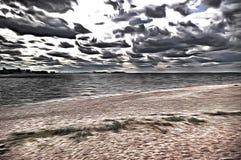 Ein mysteriöser Strand im Park - stilisiert zum Malen Stockbild