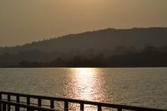 Ein Nachmittag an einem See Stockbilder