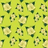 Ein nahtloser Hintergrund mit Rosen lizenzfreie abbildung